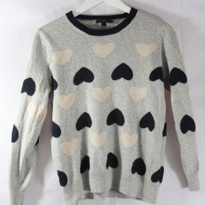 J. Crew Heart Sweater